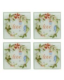 Pfaltzgraff Set of 4 Holiday Love Watercolor Coast