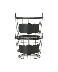 Pfaltzgraff This and That Set of 2 Stacking Basket
