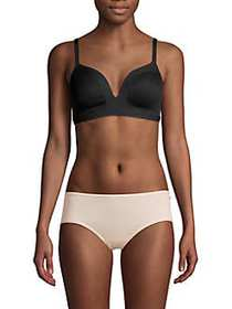 French Connection Ribbed Wire-Free Bralette ANTHRA