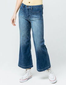 SKY AND SPARROW Wide Leg Womens Crop Jeans_