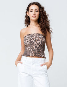 FULL TILT Animal Smocked Womens Tube Top_