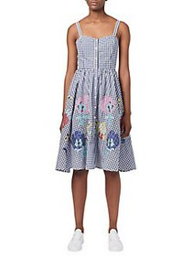 French Connection Lavande Crochet Floral Gingham D