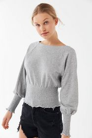 Out From Under Smocked Raglan Pullover Sweatshirt