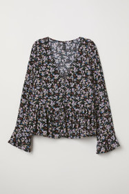 V-neck Blouse with Buttons
