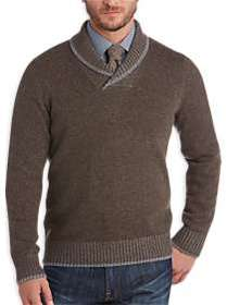 Joseph Abboud Brown Shawl Collar Sweater