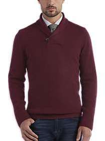 Joseph Abboud Burgundy Shawl Collar Sweater