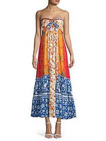 Free People Golden Dreams Maxi Dress BLUE MULTI