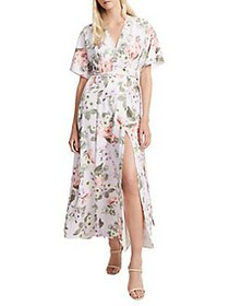 French Connection Armoise Floral Maxi Wrap Dress L