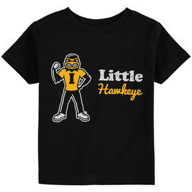 Iowa Hawkeyes Toddler Little Mascot T-Shirt - Blac