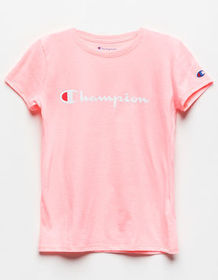 CHAMPION Heritage Pink Girls Tee_