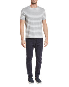 Vince Heathered Stripe T-Shirt