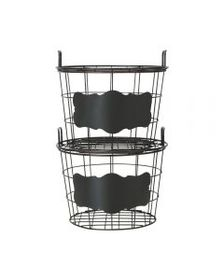 Mikasa This and That Set of 2 Stacking Baskets wit