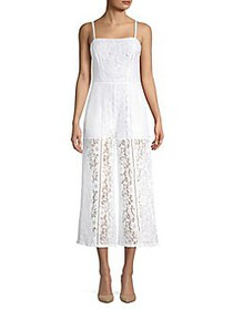 French Connection Embroidered Flared-Leg Jumpsuit