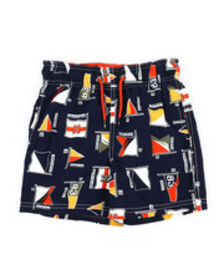 Nautica printed swim trunks w/ drawcords (4-7)