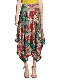 Stella McCartney Floral High-Low Maxi Skirt PINK M