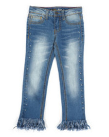 Lee frayed cropped jeans w/studs (4-6x)