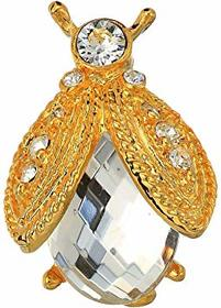 Kenneth Jay Lane Gold Rhine/Faceted Crystal Bee Pi