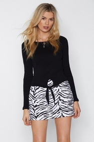 Nasty Gal Womens Black To Tie For Top