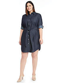 The Limited Plus Size Roll Sleeve Shirt Dress