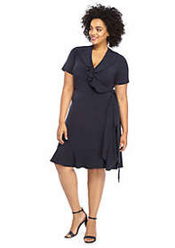 The Limited Plus Size Ruffle Wrap Dress