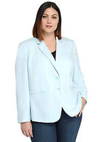 The Limited Plus Size 2 Button Blazer in Modern St
