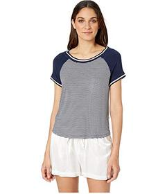 Splendid Striped Raglan PJ Tee