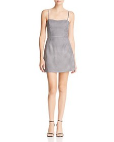FRENCH CONNECTION - Tie-Back Gingham Mini Dress -