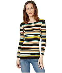 Vince Camuto Long Sleeve Multicolor Ribbed Sweater