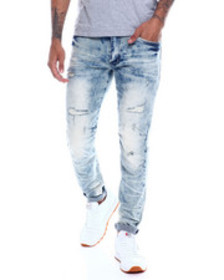SMOKE RISE distressed articulated knee jean