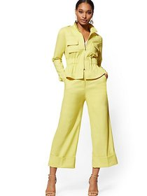 Chartreuse Wide-Leg Pant - 7th Avenue - New York &
