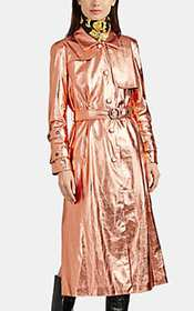 OSMAN Metallic Faux-Leather Trench Coat
