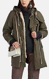 08sircus Faux-Fur-Lined Cotton Military Coat