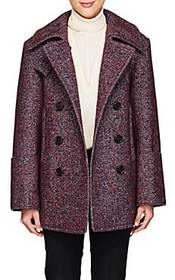 Chloé Wool-Blend Tweed Double-Breasted Coat