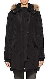 Barneys New York Faux-Fur-Trimmed Hooded Tech-Fabr