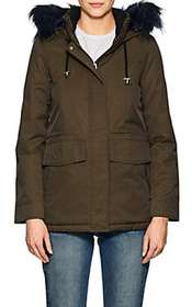 Barneys New York Faux-Fur-Trimmed Twill Parka