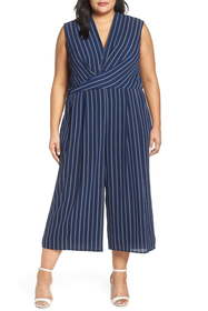 Maggy London Angie Rope Stripe Crop Jumpsuit (Plus