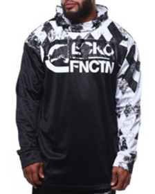 Ecko brushed poly tricot sap pop hood (b&t)