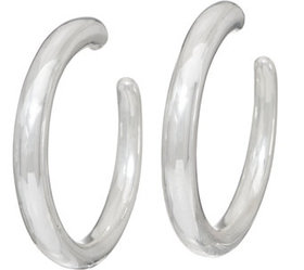 """""""As Is"""" Simon Sebbag Sterling Silver Smooth Hoop E"""