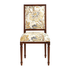 Square Back Louis XVI Side Chair in Sawyer Yellow