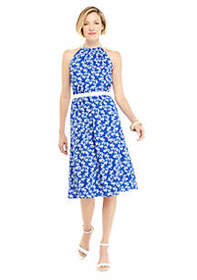 The Limited Sleeveless Halter Dress with Belt