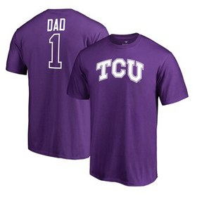 TCU Horned Frogs Fanatics Branded Number 1 Dad T-S