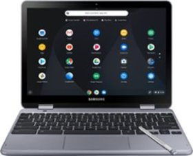 "Samsung - Plus V2 2-in-1 12.2"" Touch-Screen Chrome"