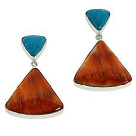 Jay King Sterling Silver Turquoise and Spiny Oyste