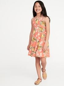 Printed Jersey Fit & Flare Cami Dress for Girls
