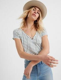 Lucky Brand Lace Up Front Top
