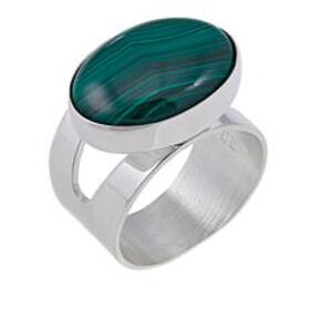 Jay King Oval Malachite Sterling Silver Ring