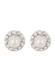 Marchesa Simulated Pearl Button Earrings
