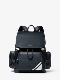 Michael Kors Henry Leather and Logo Backpack