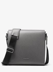 Michael Kors Harrison Medium Leather Messenger Bag