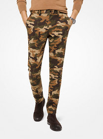 Michael Kors Slim-Fit Camouflage Cotton-Twill Chin